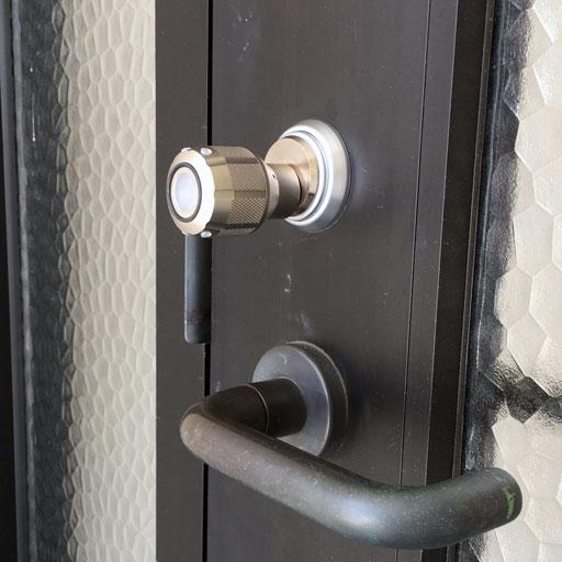 FlashLock installed in door